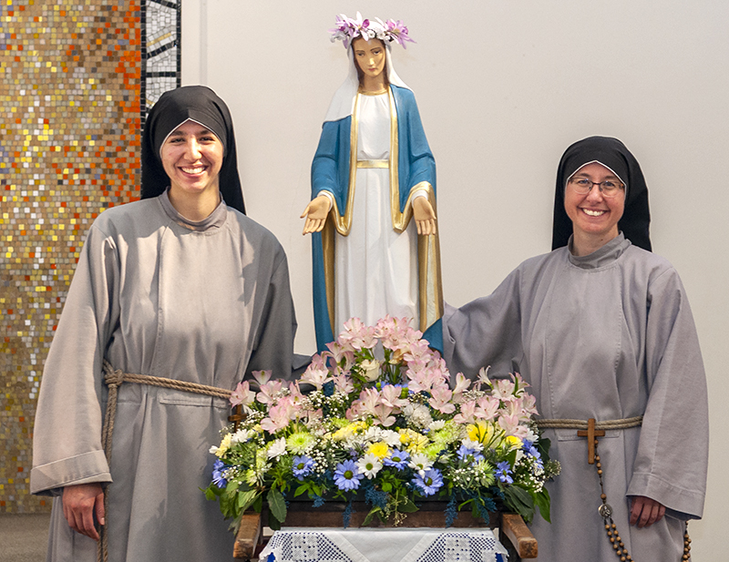 Two nuns from the Sisters of the Renewal visited St. Andrew's Parish and were the principal speakers at the Novena to Our Lady of Perpetual Succour on Wednesday May 9th