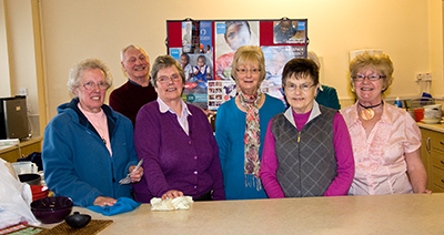 Parishioners who helped prepare the soup for the hunger lunch