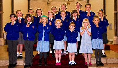 The choir of St. Mary's School