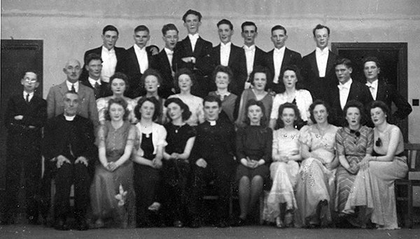 Members of the Glee Club, South Bank, many of whom became founder members of St. Andrew's Parish, Teesville, 20 years later.