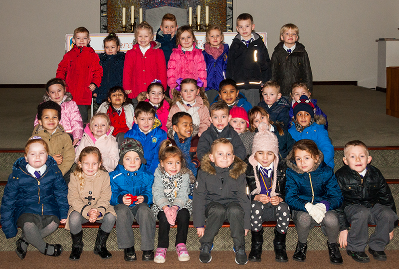 The Reception class from one of our parish schools visit St. Andrew's Church