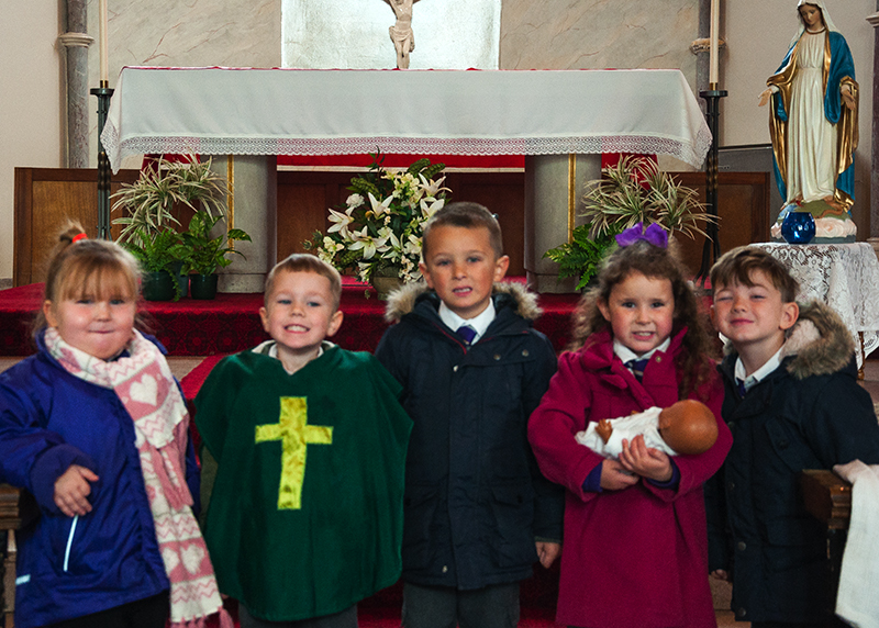 St. Margaret's pupils in St. Peter's Church